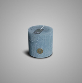 RUSTIC CANDLE GREY BLUE D.10 H.10