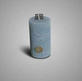 RUSTIC CANDLE GREY BLUE D.7 H.12