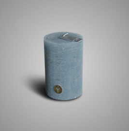 RUSTIC CANDLE GREY BLUE D.10 H.15