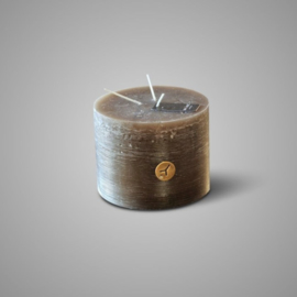 RUSTIC CANDLE 3 FUSES BROWN D.14 H.11