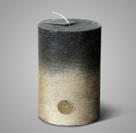 RUSTIC CANDLE BLACK GOLD FADING D.10 H.15