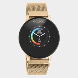OOZOO Smartwatches - unisex - metalen mesh band rosé gouden met rosé goud