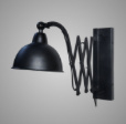 LAMP WALL HARMONICA BLACK 53X20X36
