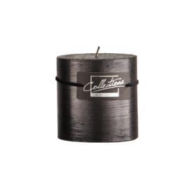 Kaars groef met glitter 9x9cm zwart
