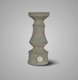 CANDLEHOLDER BRYNXZ BOOST OLD BROWN L D.13 H.30