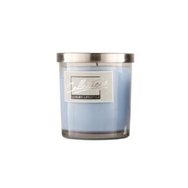 Kaars in glas groot licht blauw