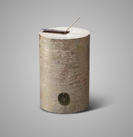 RUSTIC CANDLE GOLD  D.10 H.15