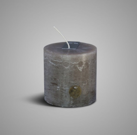 RUSTIC CANDLE BROWN D.10 H.10