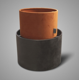 SORT. OF LAMPSHADE CYLINDER GREY D.25 H.16
