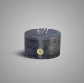 RUSTIC CANDLE 3 FUSES BLACK D.14 H.8