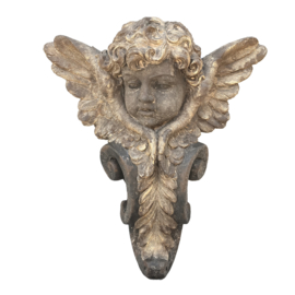 Lena Gold fiberglass wall cupid with wings