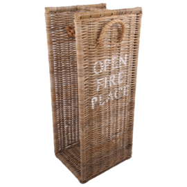 Log holder 'open fire place' large