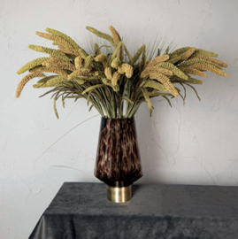 Twig Plant brown green cattail spray