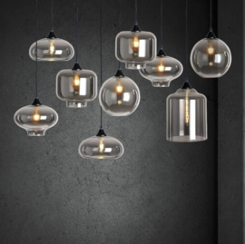 Pendant lamp Vilmar 9 light matt black