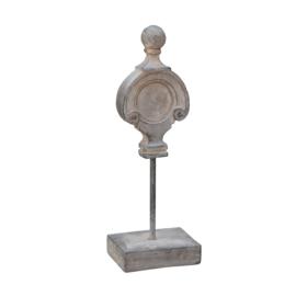 Gioia Grey fiberglass decorative statue L