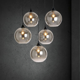 Pendant lamp Vilmar 5 light matt black