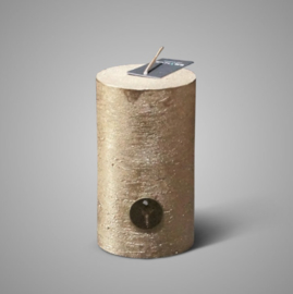 RUSTIC CANDLE GOLD D.7 H.12