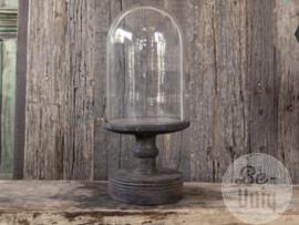 Glazen stolp hoge voet | Large | vintage finish