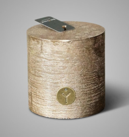 RUSTIC CANDLE GOLD  D.10 H.10