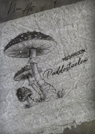 Shabby doek Herfst paddenstoel small