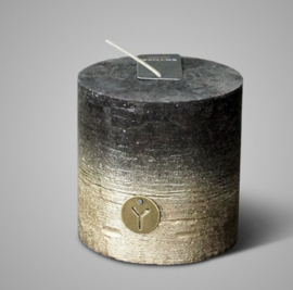 RUSTIC CANDLE BLACK GOLD FADING D.10 H.10