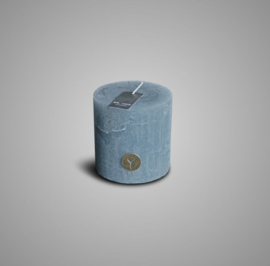 RUSTIC CANDLE GREY BLUE D.7 H.7