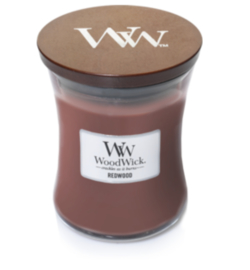 Woodwick Medium Candle Redwood