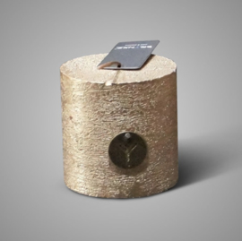 RUSTIC CANDLE GOLD D.7 H.7