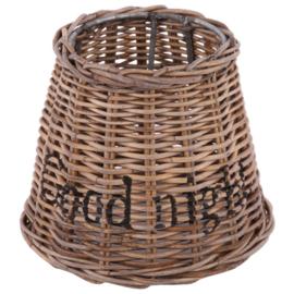 Staande lampenkap rotan drum Ø15 cm 'good night'