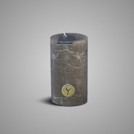 RUSTIC CANDLE BROWN D.7 H.12