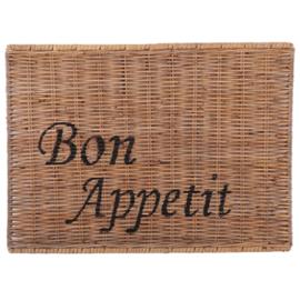 """Landelijk Brocant Placemat """"Bon Appetit"""""""
