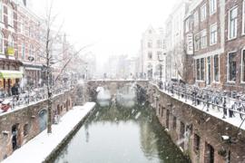 Aluminium Dibond Print 'De Maartensbrug in de sneeuw'