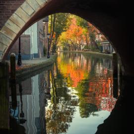 Print 'Twijnstraat aan de werf in de herfst'