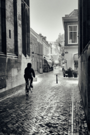 Aluminium Dibond Print 'De fietser onder de Dom'
