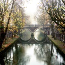 Luxe Onderzetter: De Hamburgerbrug in de herfst