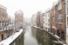Ansichtkaart: Zicht op de Lichte en Donkere Gaard in de sneeuw