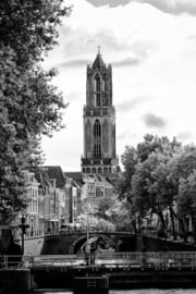 Print 'De Dom en de Weerdsluis in zwartwit'