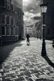 Aluminium Dibond Print 'De fietser Achter de Dom'