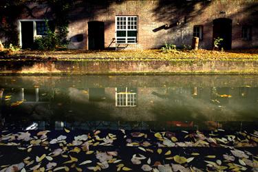 Ansichtkaart: Herfst aan de Werf