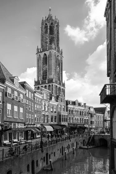 Print 'De Dom en de Vismarkt in zwartwit'