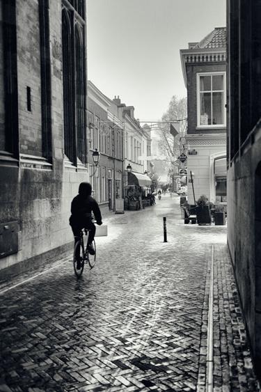 Print 40x60cm: 'De fietser onder de Dom'