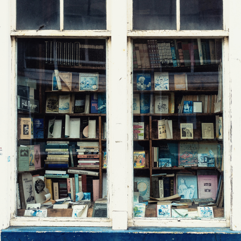 Luxe onderzetter: The Old Bookstore