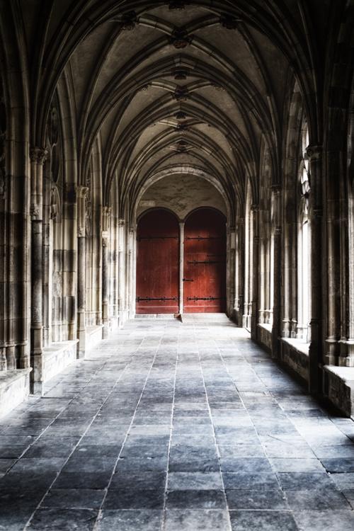 Ansichtkaart: Kloostergang in de pandhof van de Domkerk