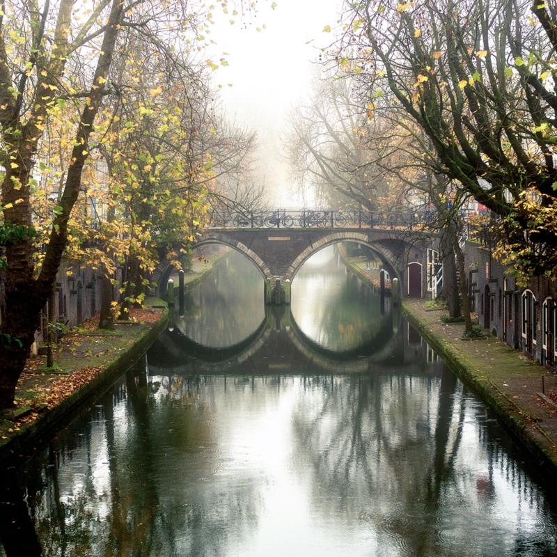 Print 'De Hamburgerbrug in de herfst'