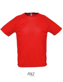 Sport T-shirt Sol's met tekst of afbeelding - ronde hals