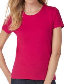 Dames T-shirt B&C met tekst of afbeelding - ronde hals