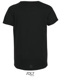 Kinder  Sport T-shirt Sol's met tekst of afbeelding - ronde hals