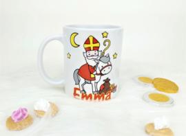Sinterklaas mok met naam