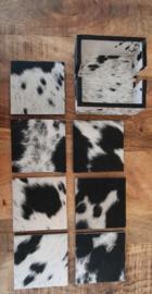 koeienhuid onderzetters