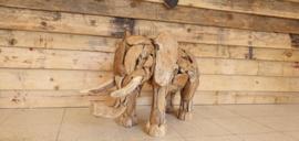 Teak houte Olifant